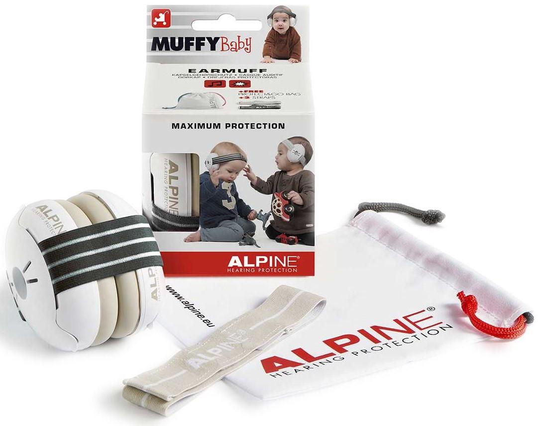 Billede af Alpine Muffy Baby - Høreværn til baby (0-3år) - Zebra Sort/Hvid