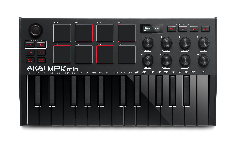 Akai MPK mini mk3 MIDI Keyboard - Sort
