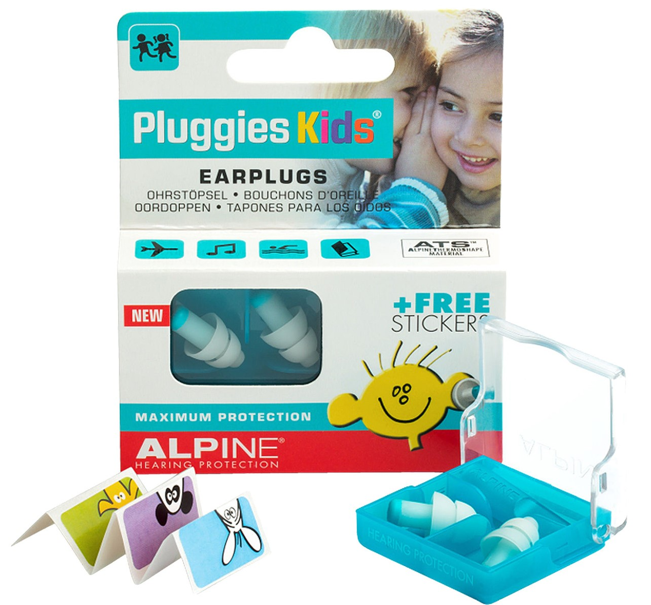 Billede af Alpine Pluggies Kids - Ørepropper til børn (3-12år)